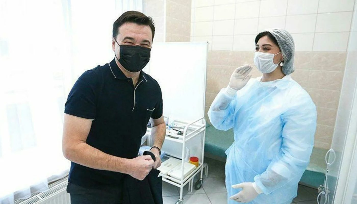 Губернатор Московской области Воробьев вновь привился от коронавируса