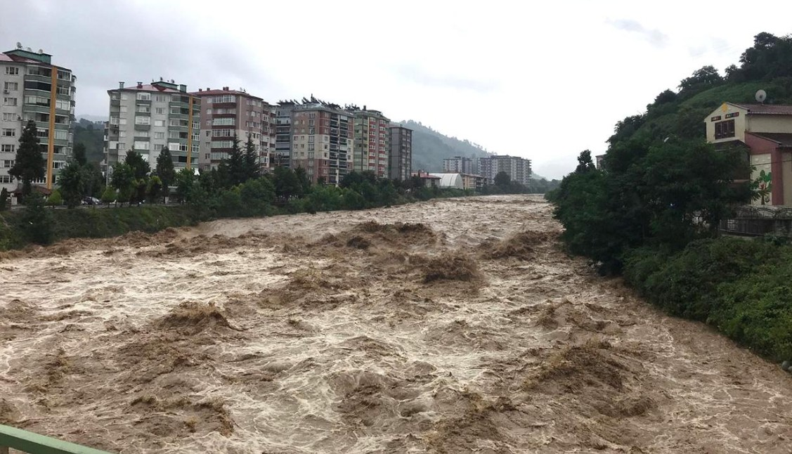 Турция под водой: наводнения в провинциях Артвин и Ризе.