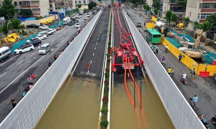 Наводнение в Китае из-за рекордного количества осадков