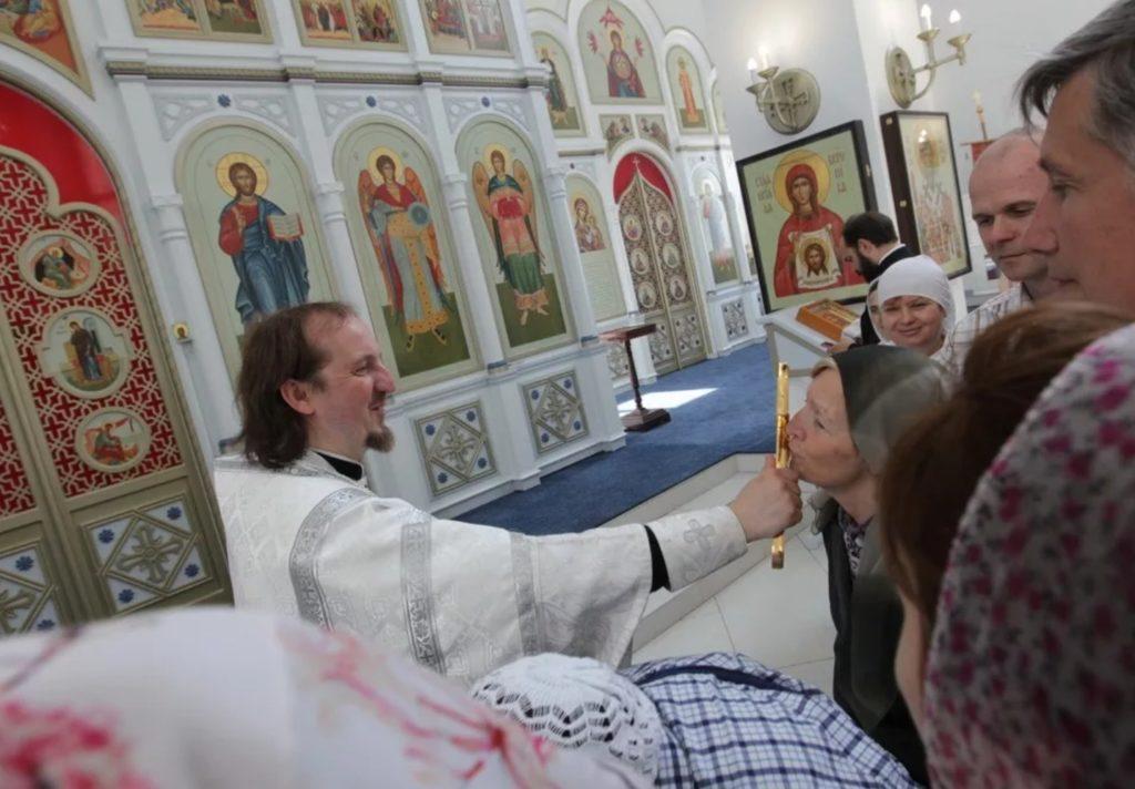 Уникальный храм архангела Михаила в деревне Путилково Красногорского района Подмосковья.